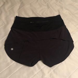Lululemon high rise speed up shorts